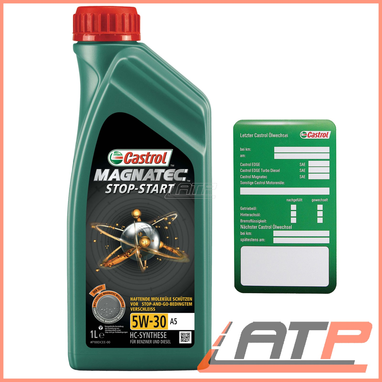 1 l castrol magnatec stop start 5w 30 a5 car engine oil. Black Bedroom Furniture Sets. Home Design Ideas