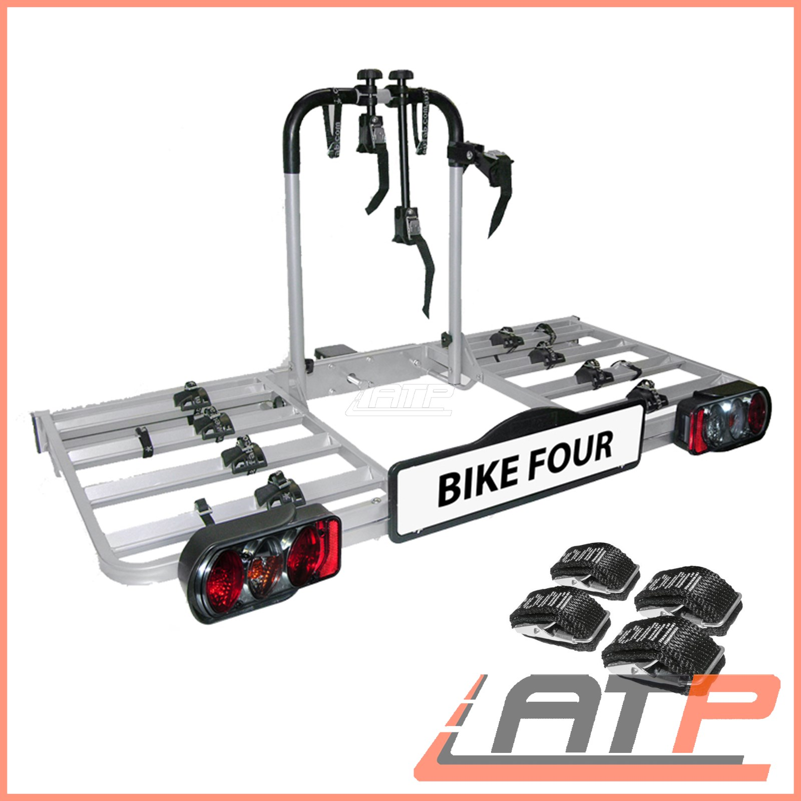 Eufab 11514 Tow Bar Carrier Luke for 4 Bicycles