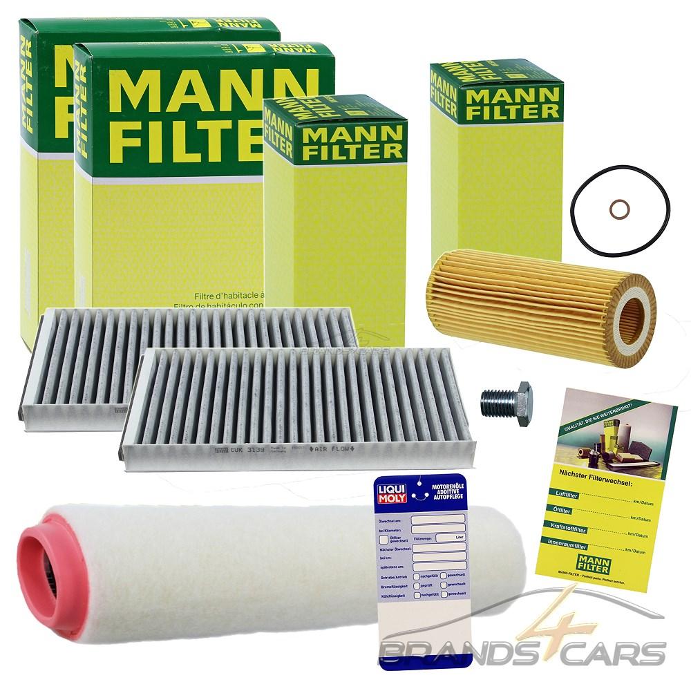 1x MANN-FILTER INSPEKTIONSPAKET FILTERSATZ B BMW 5-ER E39 525-d 530-d