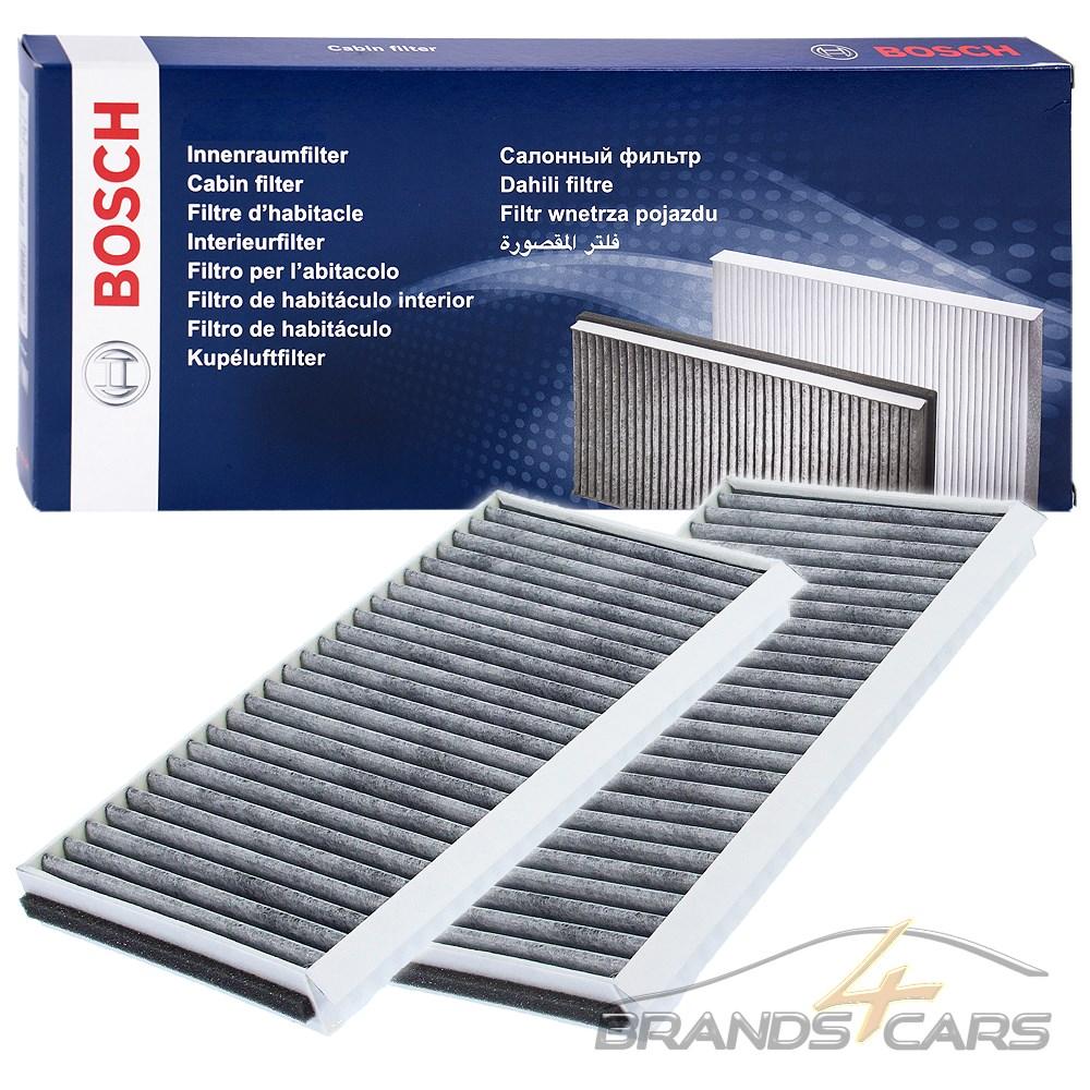 2x Innenraumfilter Pollenfilter Aktivkohlefilter für BMW 5er E60 E61 6er E63 E64