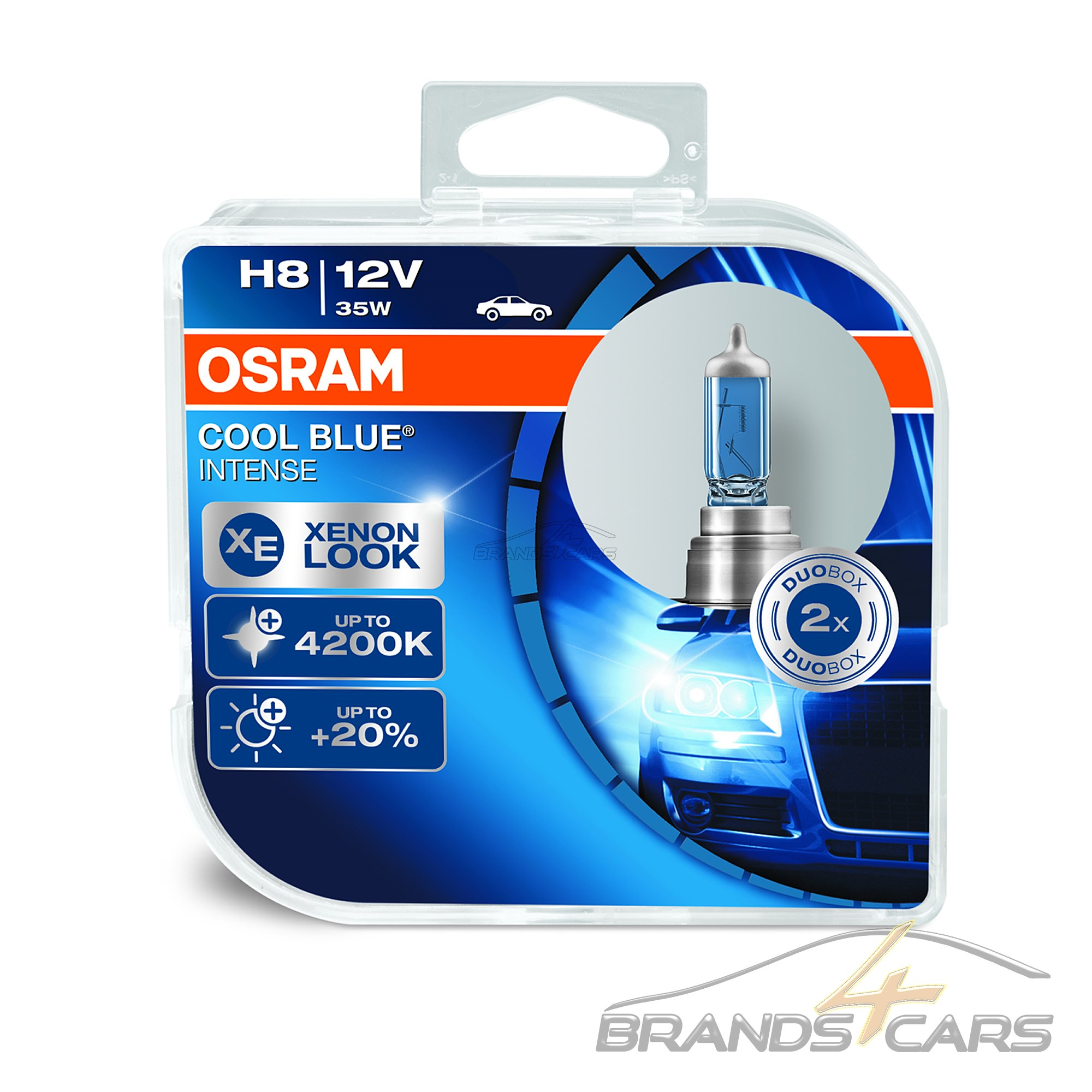 original osram cool blue intense h8 35w 12v gl hlampen 2. Black Bedroom Furniture Sets. Home Design Ideas