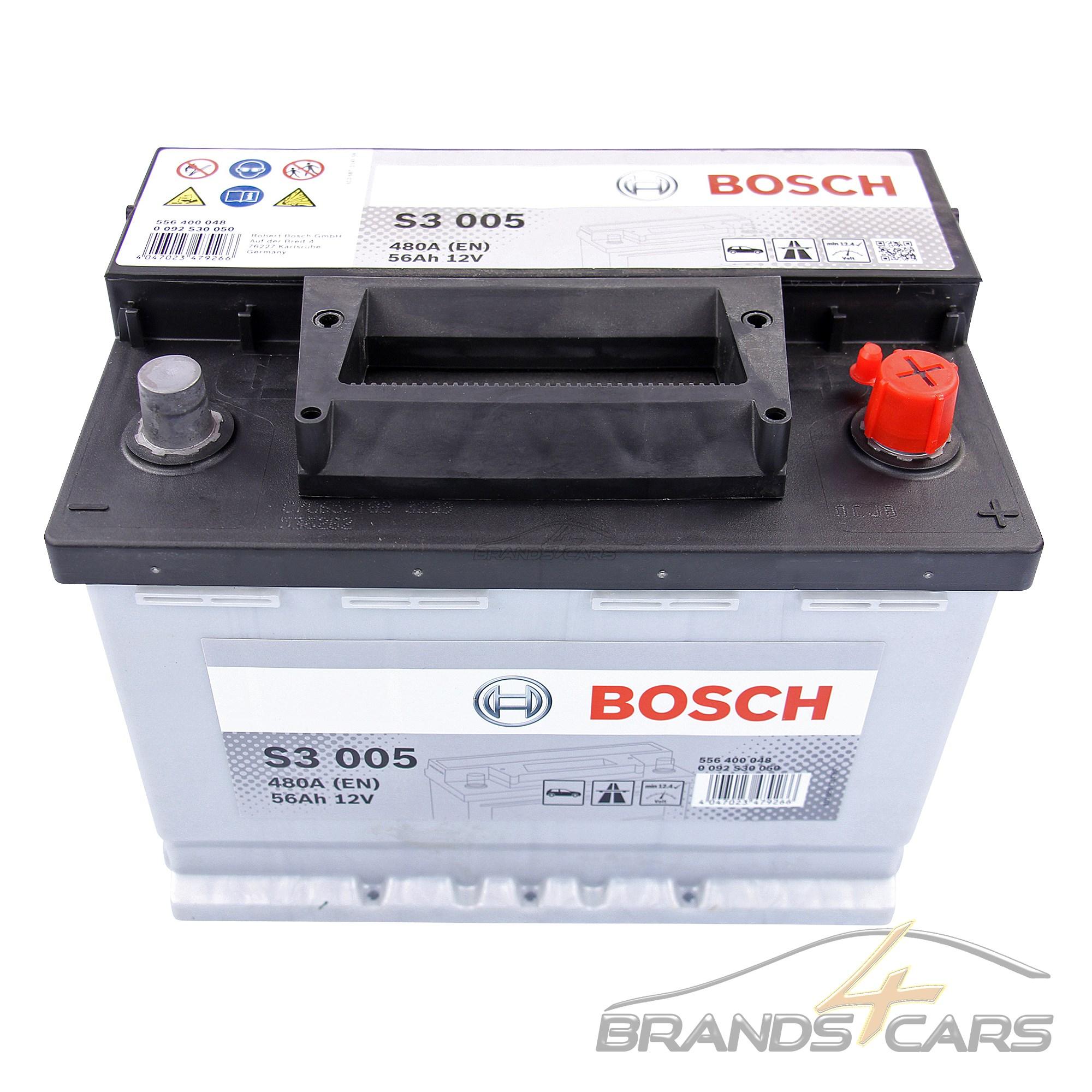 BOSCH S3 005 56Ah 480A 12V AUTOBATTERIE STARTERBATTERIE PKW-BATTERIE 31835386