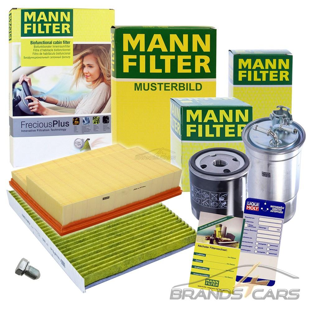 1x MANN-FILTER INSPEKTIONSPAKET FILTERSATZ A FORD FOCUS 3 1.5 1.6 TDCi AB BJ 11