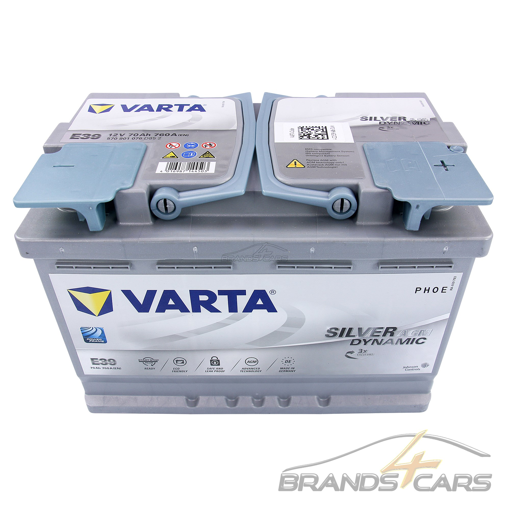 Varta Silver Dynamic 12 V 70ah 760 A AGM Start-Stop Auto-Batterie 31855465