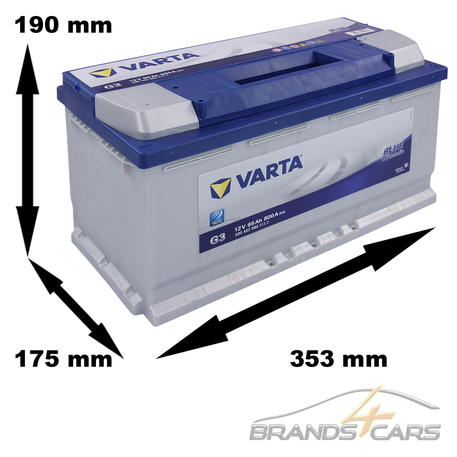 varta auto batterie starter batterie 12v 95ah 800a ersetzt 87 ah 88 ah 90 ah 92 ebay. Black Bedroom Furniture Sets. Home Design Ideas
