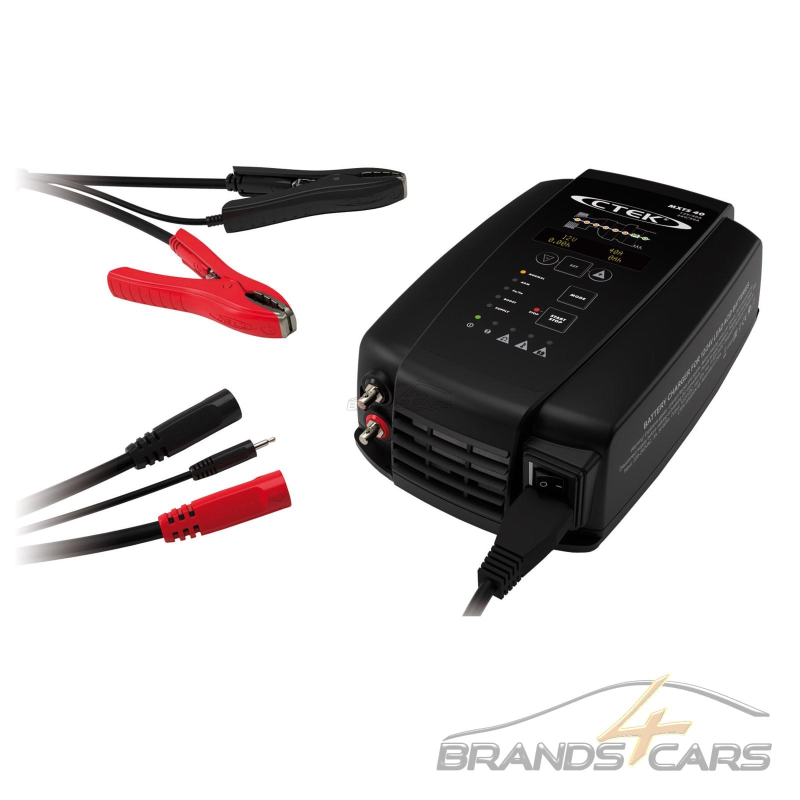 Ctek Mxts 40 Erhaltungsgerat Kfz Batterie Ladekabel 12v 40a 24v