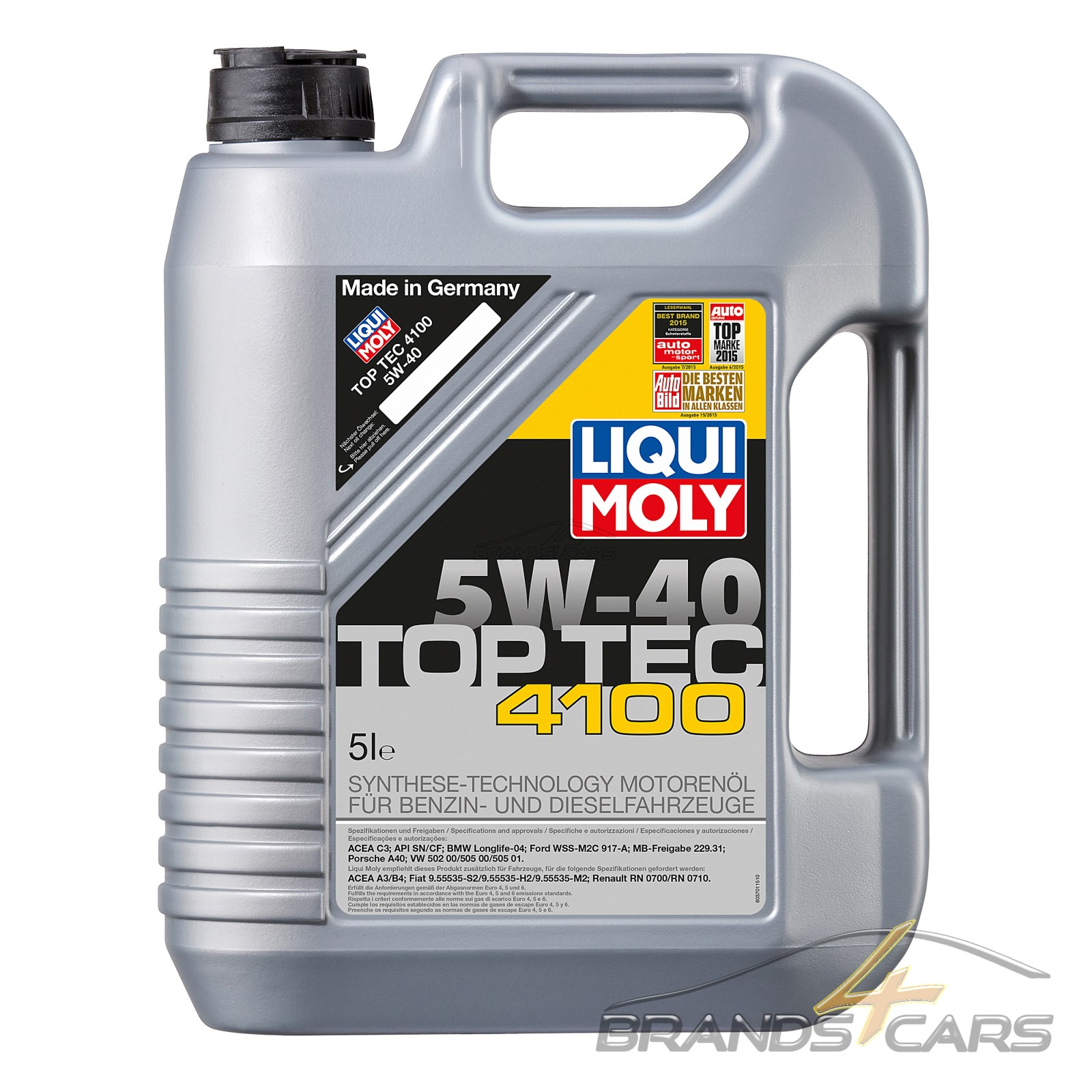 5 l liter liqui moly top tec 4100 5w 40 motor l motoren. Black Bedroom Furniture Sets. Home Design Ideas