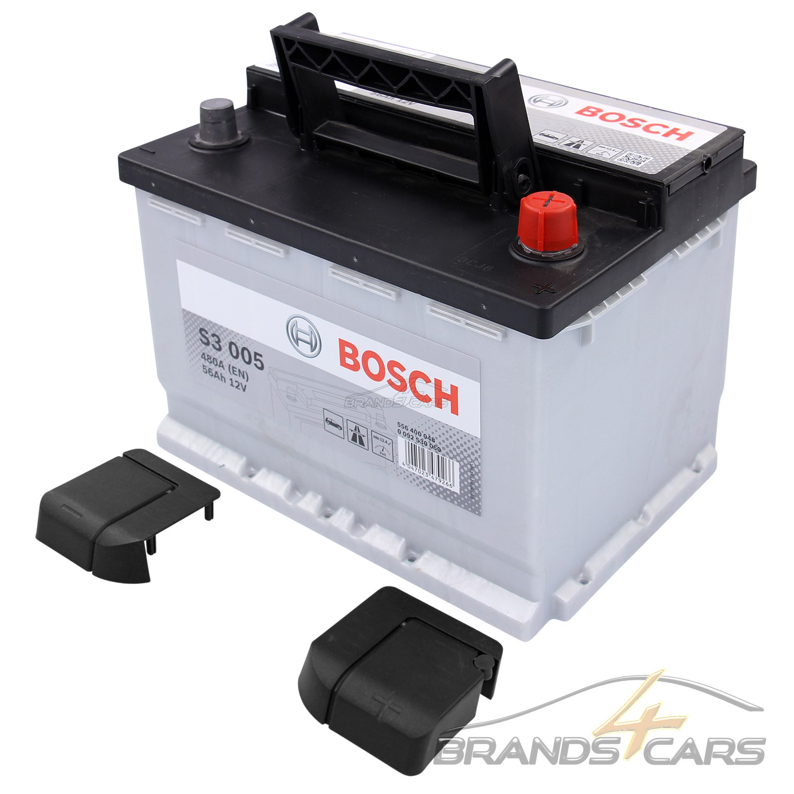 bosch s3 005 56ah 480a 12v autobatterie starterbatterie. Black Bedroom Furniture Sets. Home Design Ideas