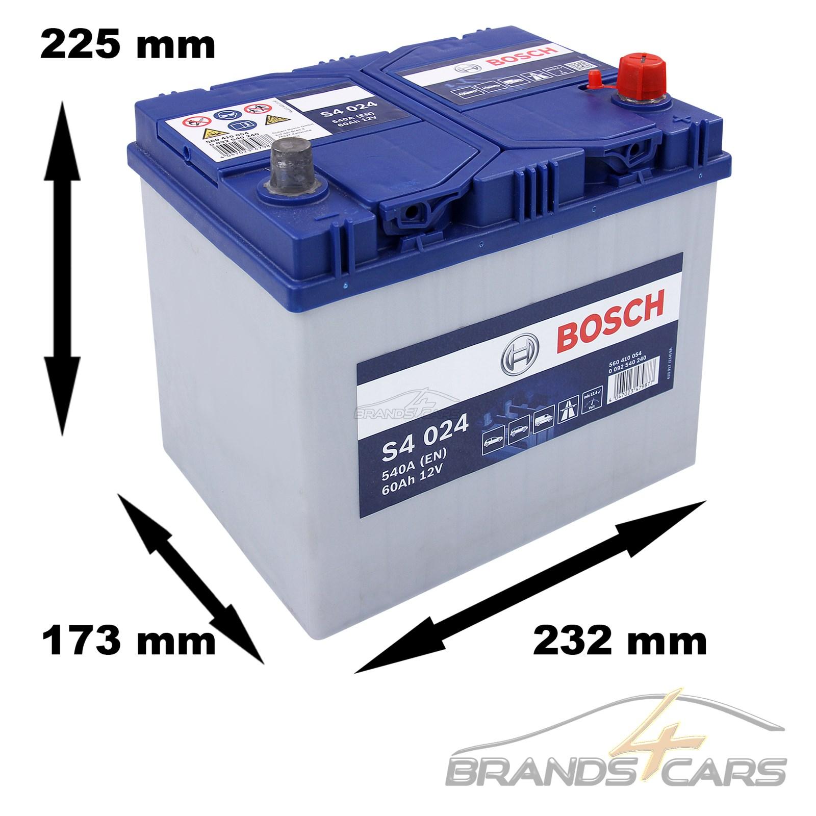 bosch s4 024 60ah 540a 12v autobatterie starterbatterie. Black Bedroom Furniture Sets. Home Design Ideas