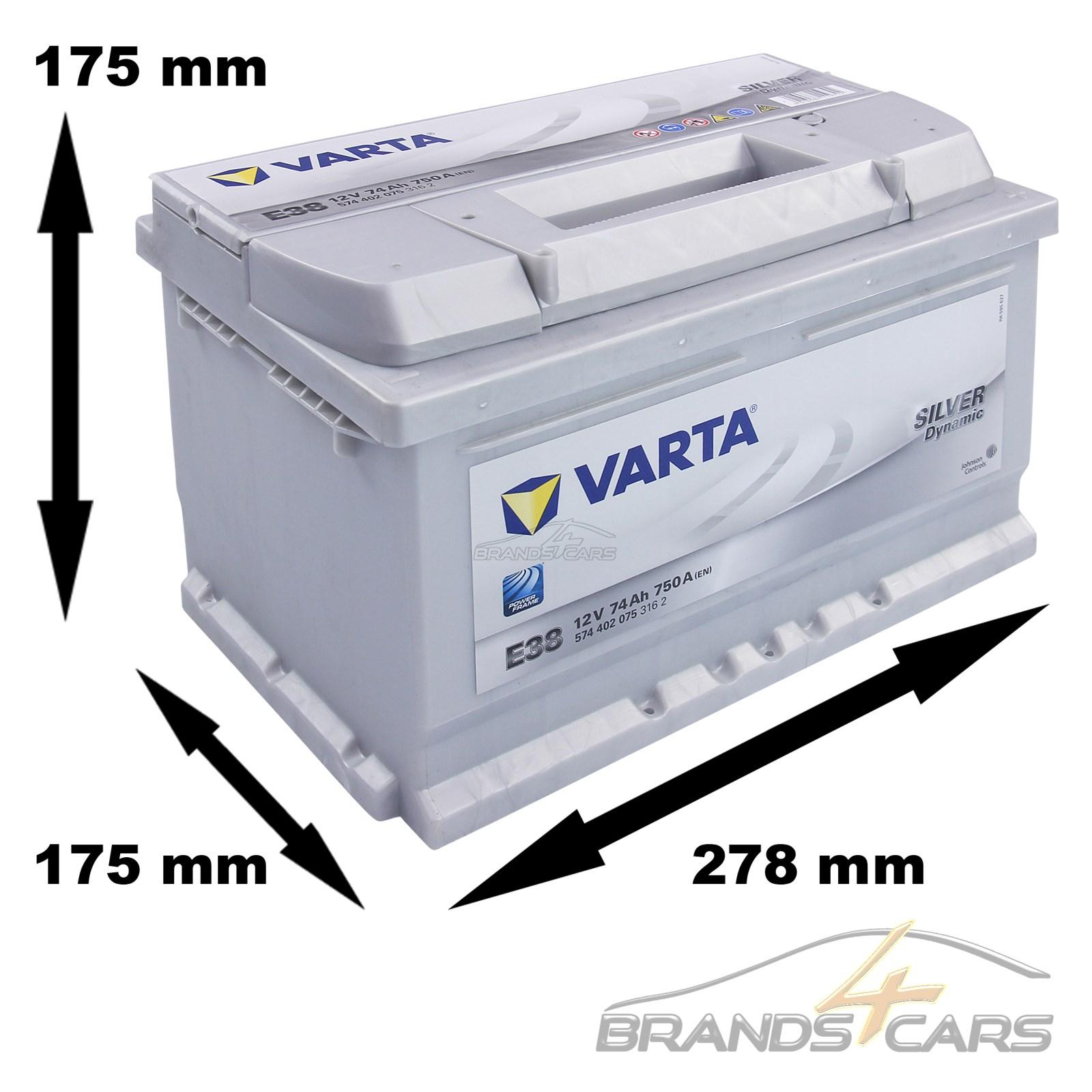 varta silver dynamic e38 74 ah 12v auto batterie. Black Bedroom Furniture Sets. Home Design Ideas