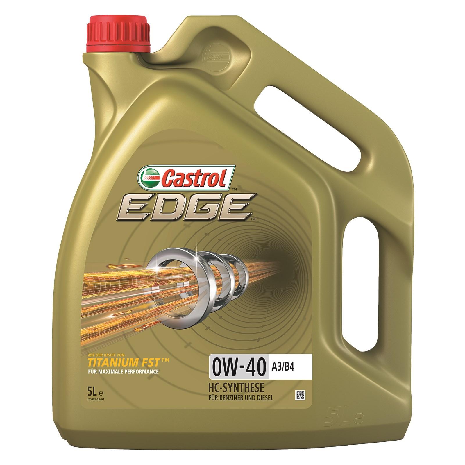 5 l liter castrol edge titanium fst 0w 40 a3 b4 motor l motoren l 31278489 hochleistungs l mit der st rke von titanium fst