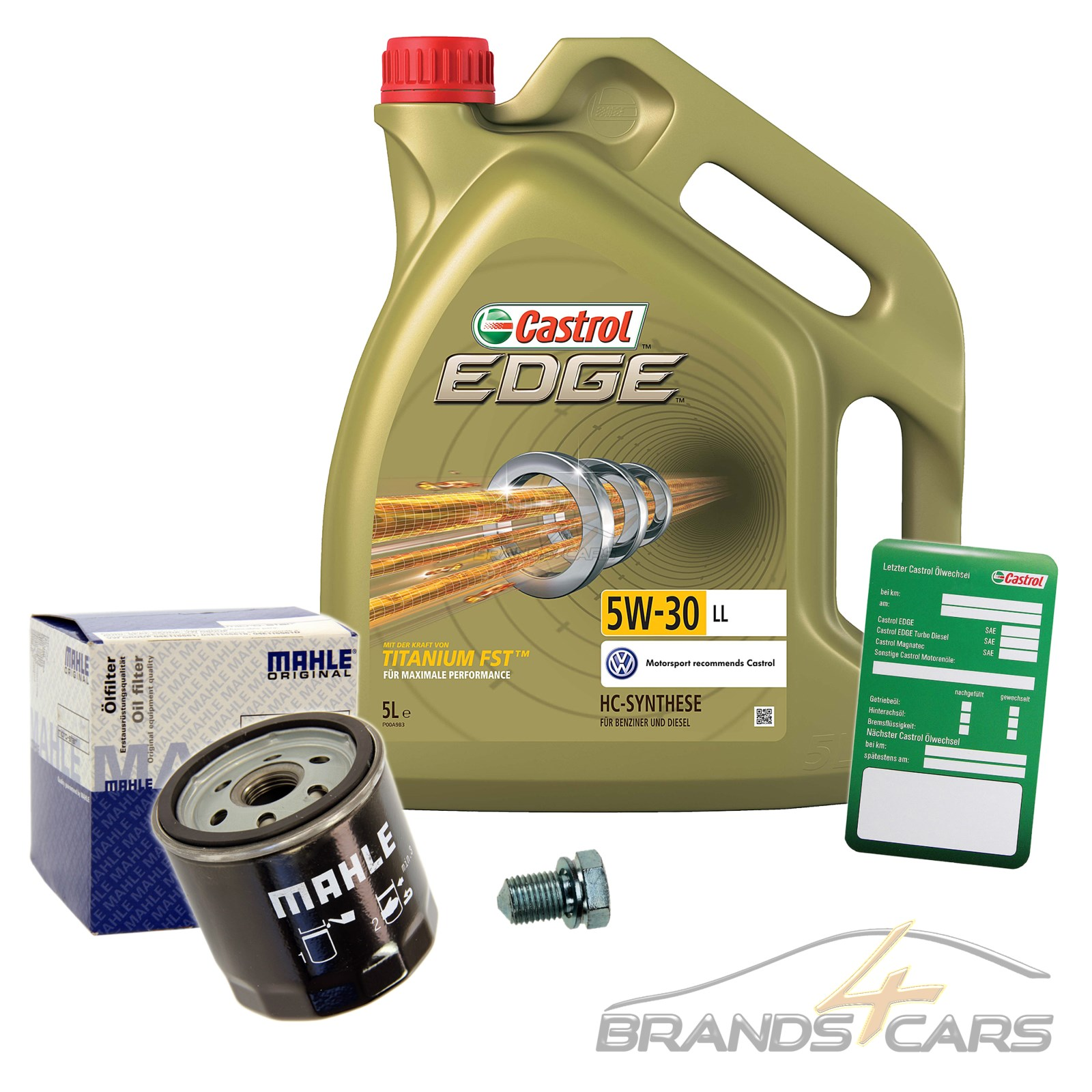 mahle lfilter 5l castrol edge fst 5w 30 ll vw golf 7 5g. Black Bedroom Furniture Sets. Home Design Ideas