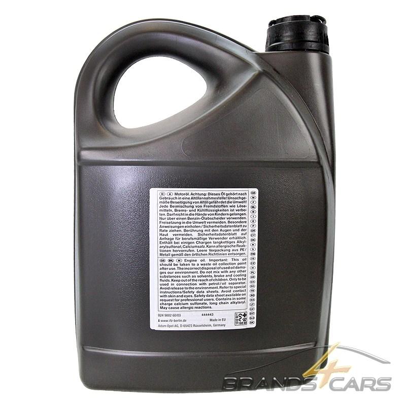 5 l liter opel gm 10w 40 motor l motoren l 31455381 ebay. Black Bedroom Furniture Sets. Home Design Ideas