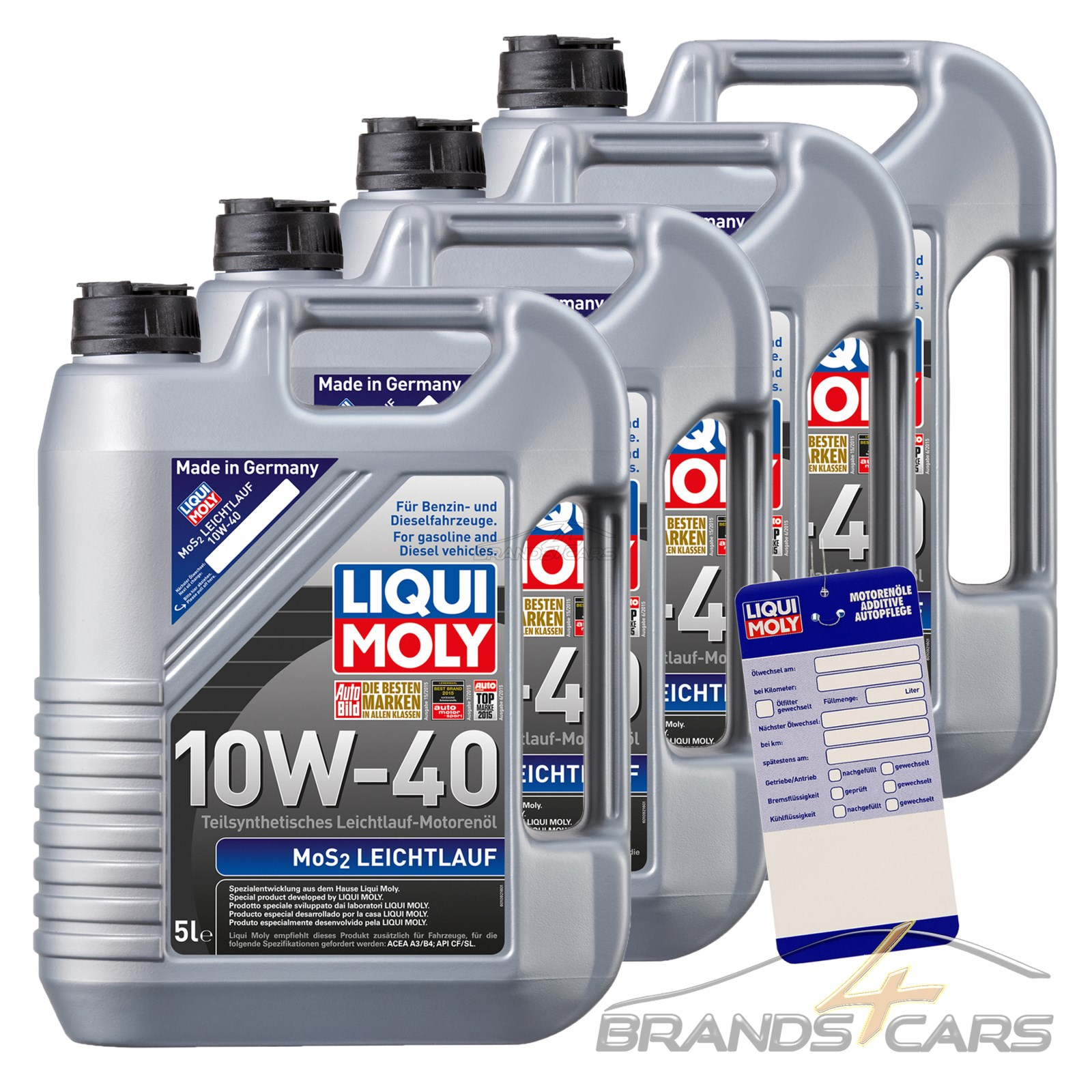 4x 5 l 20 liter liqui moly mos2 leichtlauf 10w 40 motor l motoren l 32098836 ebay. Black Bedroom Furniture Sets. Home Design Ideas