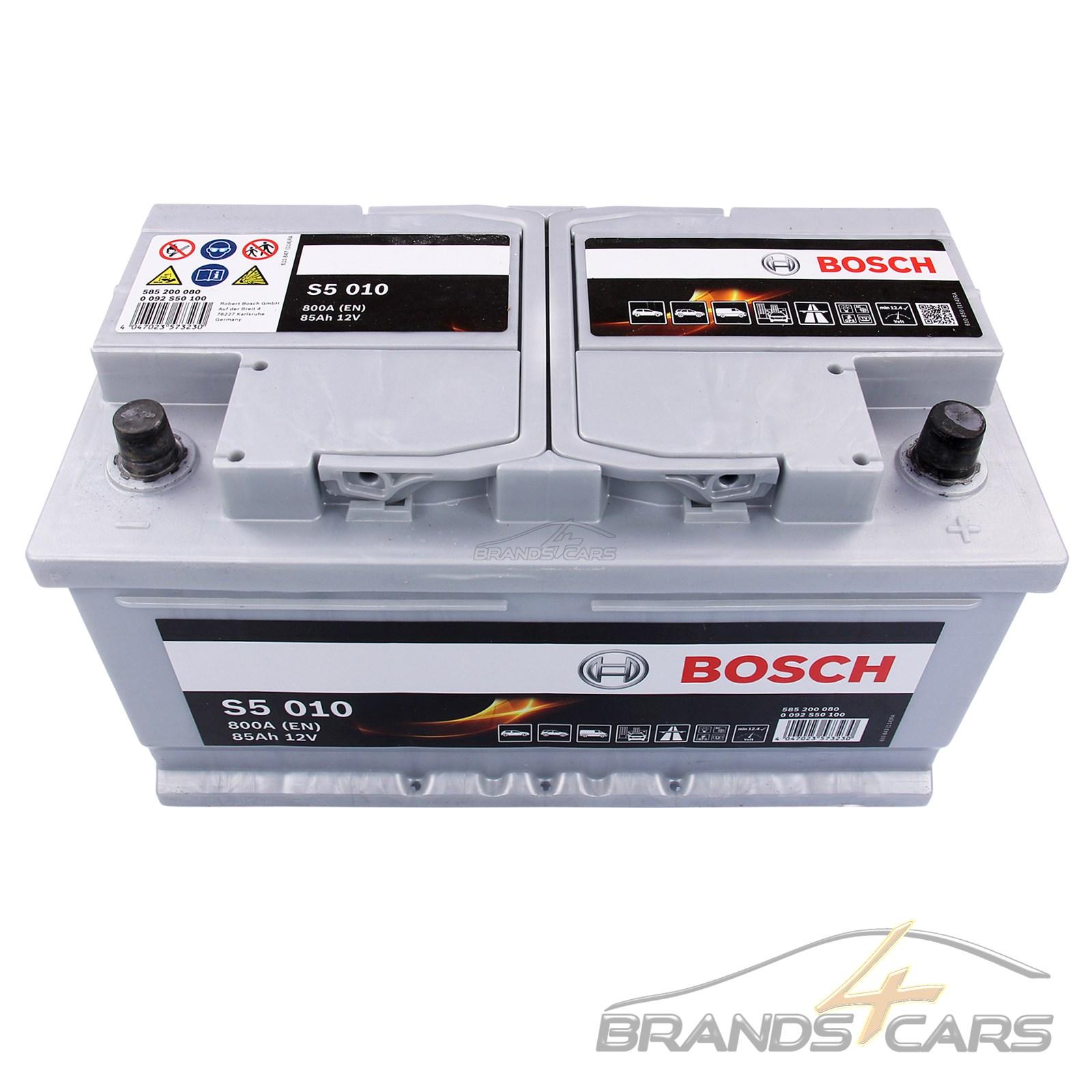 bosch s5 010 85ah 800a 12v autobatterie starterbatterie. Black Bedroom Furniture Sets. Home Design Ideas