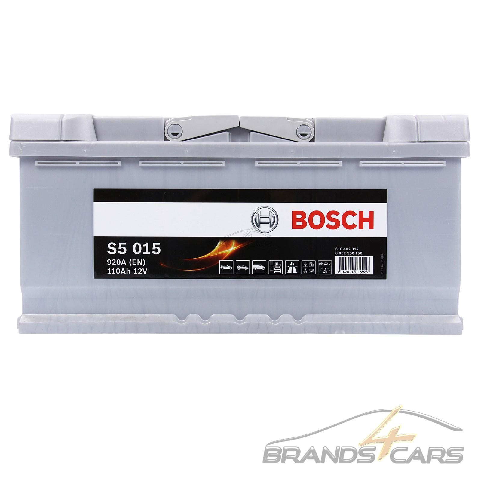 bosch s5 015 110ah 920a 12v autobatterie starterbatterie. Black Bedroom Furniture Sets. Home Design Ideas
