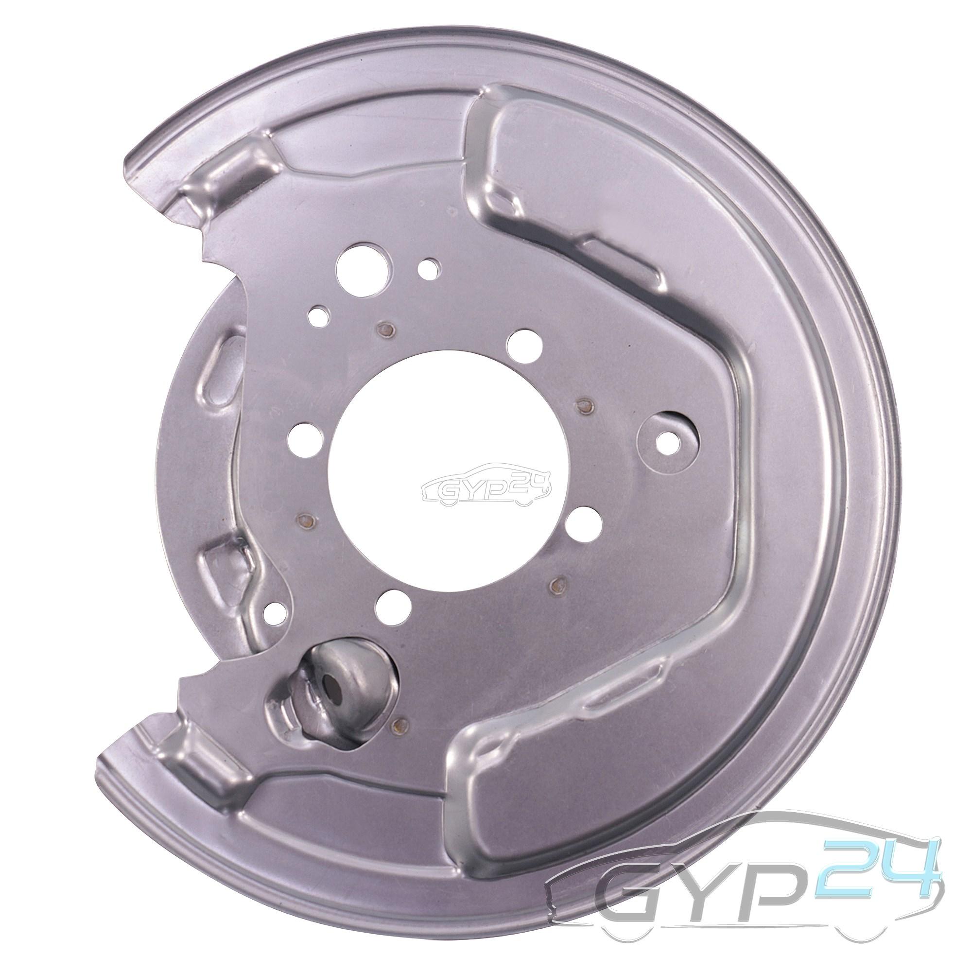 2x Deckblech Ankerblech Spritzblech Bremsscheibe hinten Hinterachse