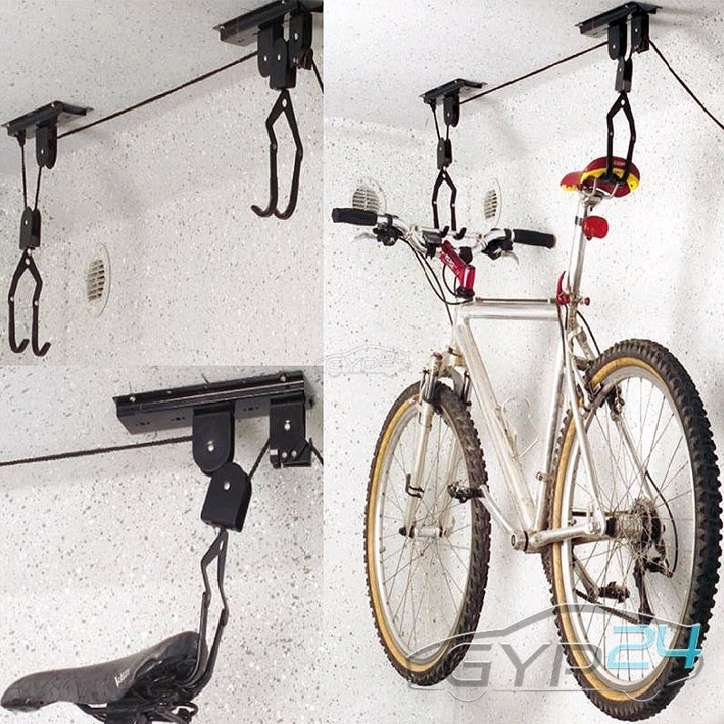 ARGANO Bike lift per biciclette 20kg Pro Plus CARRUCOLA SUPPORTO SOFFITTO NUOVO 31366726