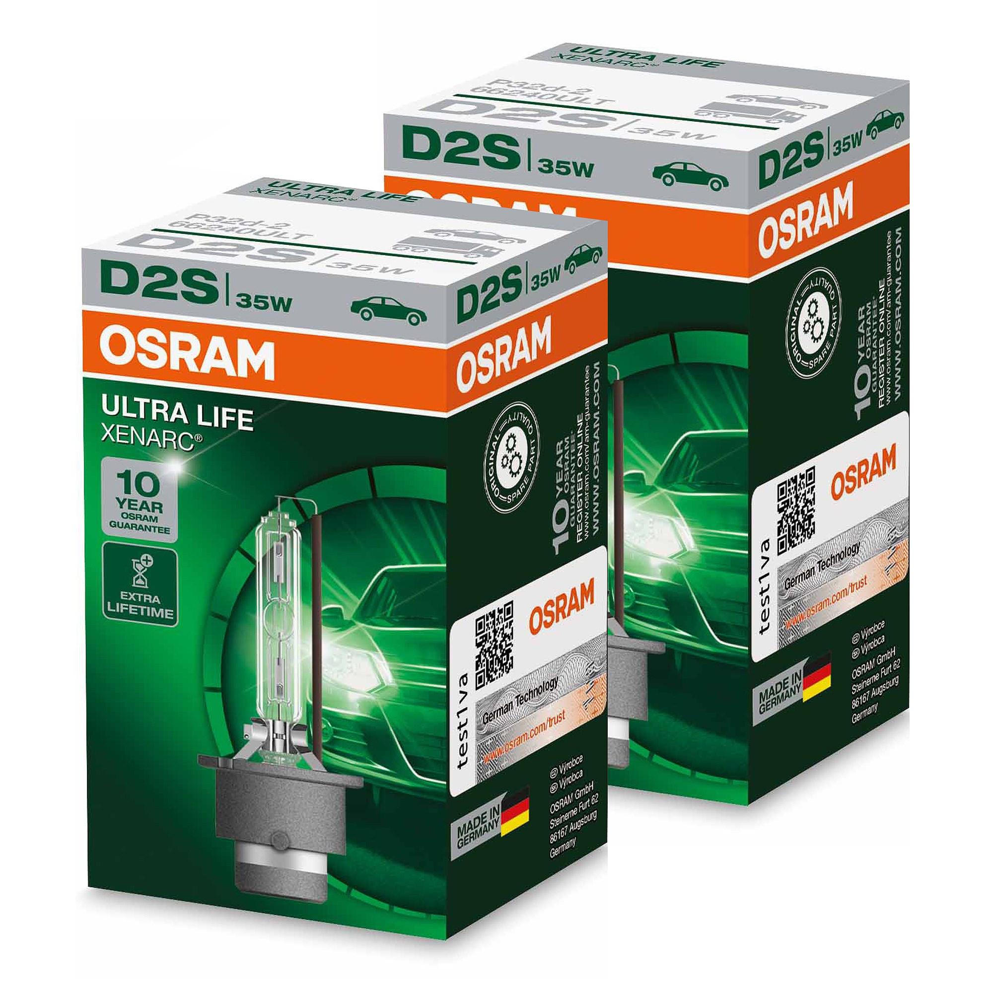 OSRAM D2S XENARC ORIGINAL LEUCHTMITTEL LICHT BIRNE XENONLICHT XENONLAMPE 35 W