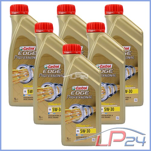 6x 1 l litre castrol edge professional oe 5w 30 huile. Black Bedroom Furniture Sets. Home Design Ideas
