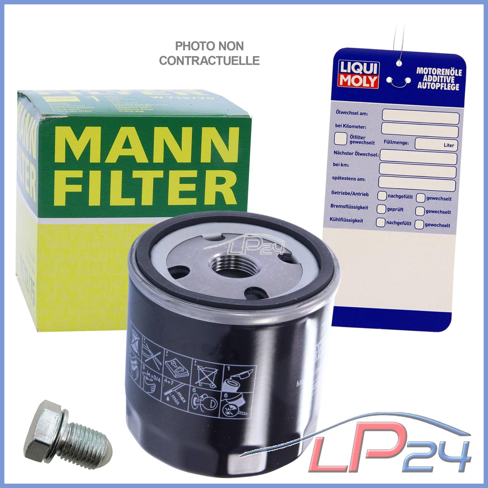 mann filter w714 4 filtre huile bouchon de vidange bague d 39 tanch it ebay. Black Bedroom Furniture Sets. Home Design Ideas