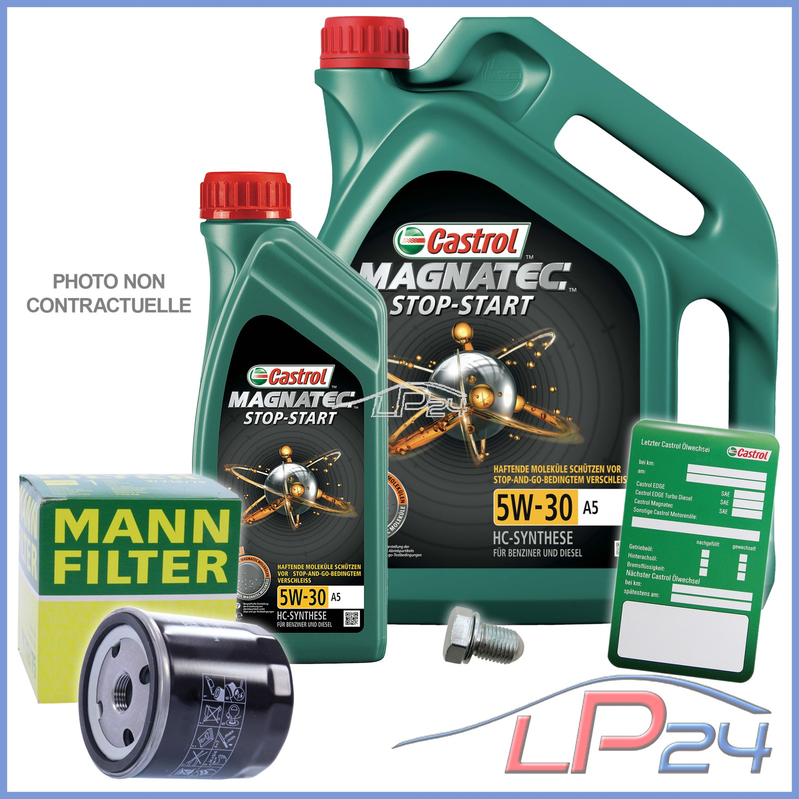 mann filtre huile 6l castrol magnatec 5w 30 ford jaguar land rover 32314337 ebay. Black Bedroom Furniture Sets. Home Design Ideas