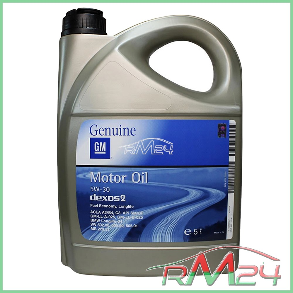 BOSCH-FITLRO-OLIO-5-L-OPEL-GM-5W-30-DEXOS-2-OPEL-ASTRA-J-09-1-4-1-6 miniatura 2