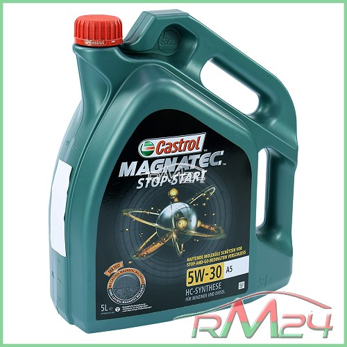 5 l olio motore castrol magnatec stop start 5w 30 a5 ford. Black Bedroom Furniture Sets. Home Design Ideas